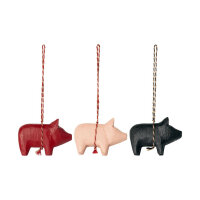 Holzschweinchen Ornament
