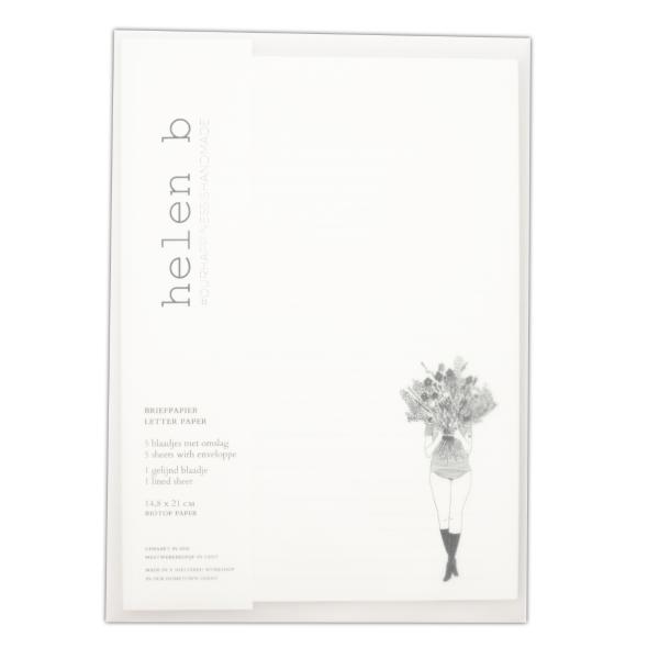 Briefpapier Set flower girl | helen b