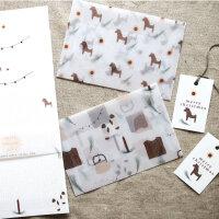 """Briefpapier Set """"Merry Christmas"""""""