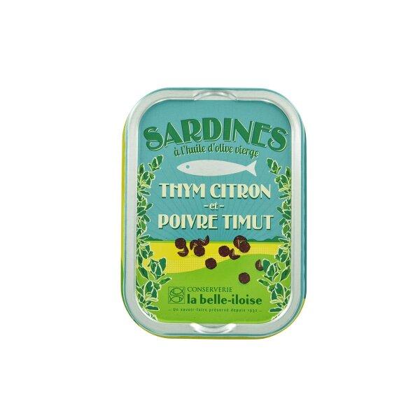 Sardinen mit Zitronenthymian & Timut-Pfeffer   la belle-iloise