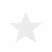 Holzanhänger Stern 8er Set