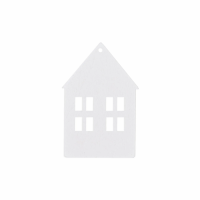 Holzanhänger Haus 8er Set