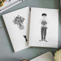 Notizheft Set Flower girl & flower man I helen b