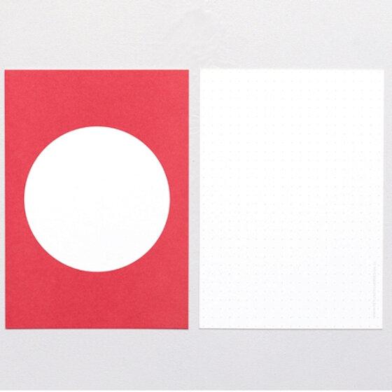 Postkarte Punkt Rot   PERLENFISCHER