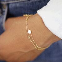 Vergoldetes Doppel-Armband