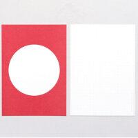 5 Postkarten Rot | PERLENFISCHER