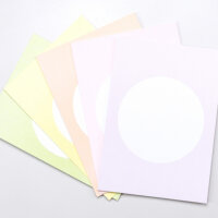 5 Postkarten Soft Pastell Mix | PERLENFISCHER