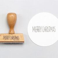 Stempel MERRY CHRISTMAS | PERLENFISCHER