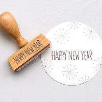 Stempel HAPPY NEW YEAR | PERLENFISCHER