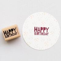 Stempel Happy Birthday | PERLENFISCHER
