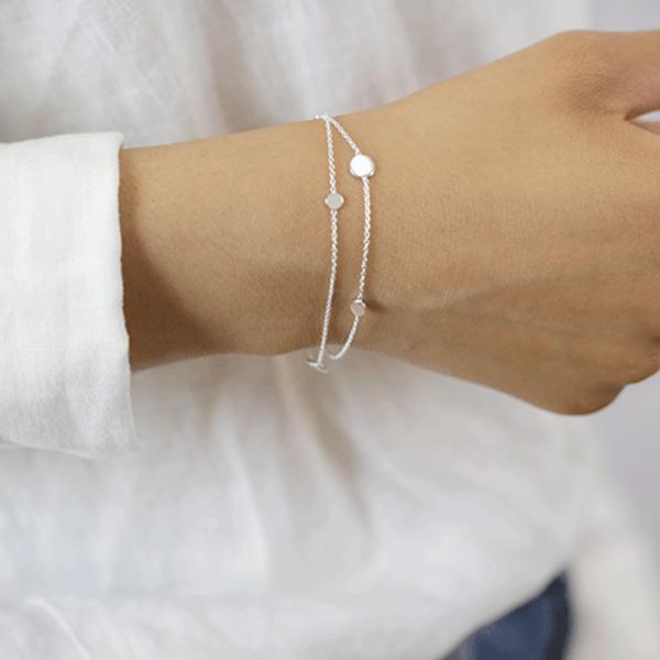 925er Silber Doppel-Armband