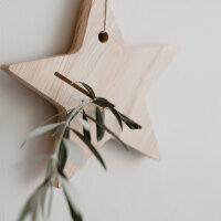 Karten - und Kerzenhalter Stern