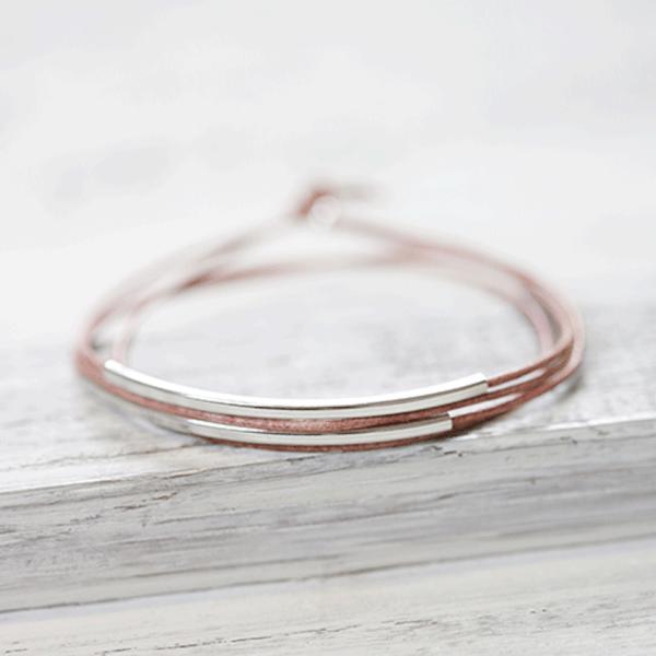 Armband Malve/rhodiniert