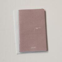 Nachfüll-Heft für Notizbuch Leinen mit Knopf