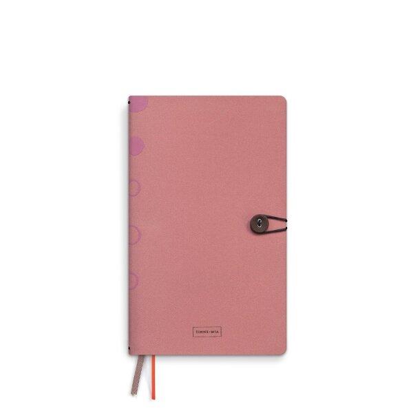 Notizbuch Leinen mit Knopf